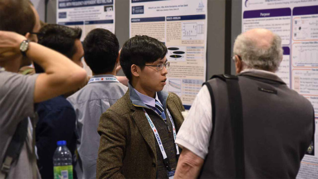 Hong Hsi Lee at the annual meeting of the International Society for Magnetic Resonance in Medicine (ISMRM) in 2015 in Toronto, Canada.