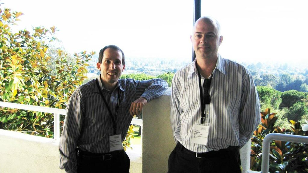 Daniel Sodickson and Graham Wiggins at an imaging workshop in 2009.
