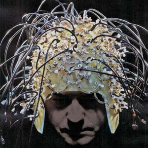 Graham Wiggins wearing a 96-channel brain imaging array of his design.