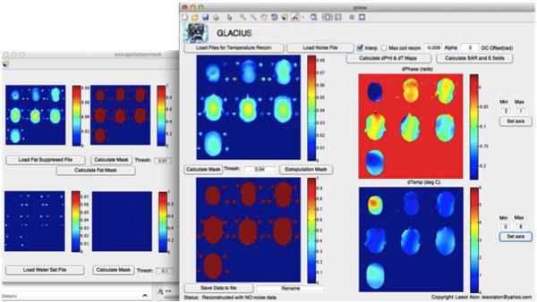 Screenshot of GLACIUS software.